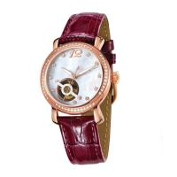 Wholesale 5 ATM Water Resistant Mechanical Wrist Watch / Ladies Automatic Watches With Genuine Leather from china suppliers