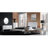 Solid Wood High Gloss Bedroom Furniture Set With 4 Door Wardrobe / Night Stand