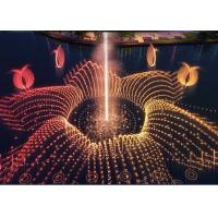 Wholesale Outdoor Floating Water Feature Fountain With RGB Led Lighting / Fire Spray from china suppliers