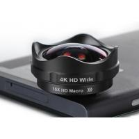 Wholesale Fisheye Wide Angle Macro Lens , Phone Camera Macro Lens Easy Operate from china suppliers