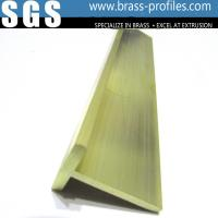 Quality Solid Golden Copper T Slot Framing to Decorate Window and Door for sale