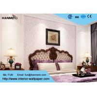 Wholesale Light Pink Floral Modern Removable Wallpaper , Contemporary Bedroom Wallpaper from china suppliers