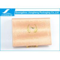 Wholesale Shiny Gold Faux Leather Material Empty Gift Box Personalised With Logo Hot Stamped from china suppliers