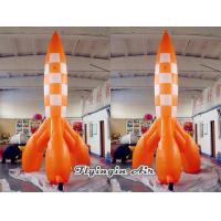 Wholesale Customized Inflatable Rocket Model with Blower for Outdoor Event Decoration from china suppliers