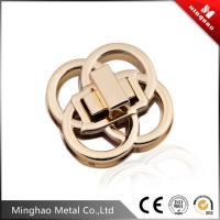 Wholesale Unique design round four-ring overlapping handbag turn lock,zinc alloy quarter turn lock 40mm from china suppliers