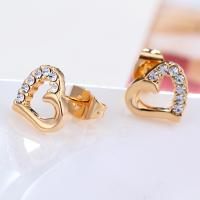 Wholesale Ref No.: 440207 Semi Diamond heart Earring in fashion jewellery cuban jewelry from china suppliers