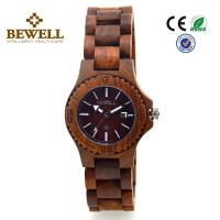 Wholesale Men handmade bewell wood watch / water resistant digital wood watch from china suppliers