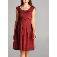 Wholesale Trendy Red Color Lace Maternity Going Out Dresses Clothes Anti - Wrinkle from china suppliers