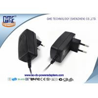 Wholesale EU PIN 12V Power Adapter 1.25A Low Ripple 50Hz With Black / White Color from china suppliers
