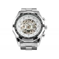 Wholesale Precise Winner Automatic Mens Watch White Dial With Mechanical Movement from china suppliers