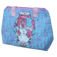 Wholesale 75g Silk screen printing beauty elipe shape sea beach zipper non woven carry bag from china suppliers