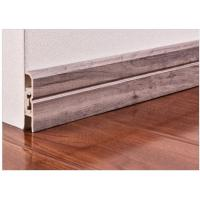 Wholesale 7.4cm Interior Decorative  Pvc Skirting Board In Flooring Accessories from china suppliers