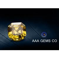Wholesale VVS1 Colored Asscher Cut Moissanite 9mm Synthetic Moissanite Yellow from china suppliers