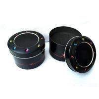 Wholesale Professional Watch Metal Tin Box  With Lids Round Cylinder , OEM ODM Service from china suppliers