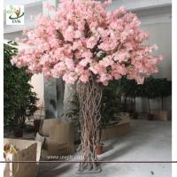 Wholesale UVG CHR057 artificial peach blossom tree for window show witn Pink color indoor decorative from china suppliers