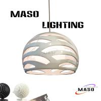 Buy cheap Maso Simple Modern resin pendant lamp for dinning room decorative lighting with Glass MS-P1067 E27 Lamp Base from wholesalers