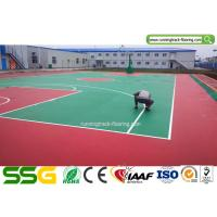 Wholesale Indoor Basketball Silicon PU Sports Flooring Stable Surfacing Materials Red / Green from china suppliers