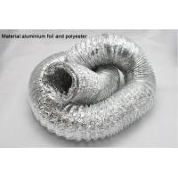 "Quality Aluminum foils / polyester straight and smooth aluminum flexible air duct 2"" - 20"" for sale"