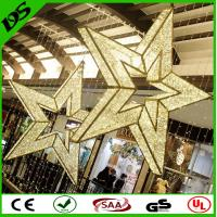 Wholesale Customize commercial 3ft 4ft 5ft 6ft 8ft shopping mall large hanging LED christams star from china suppliers