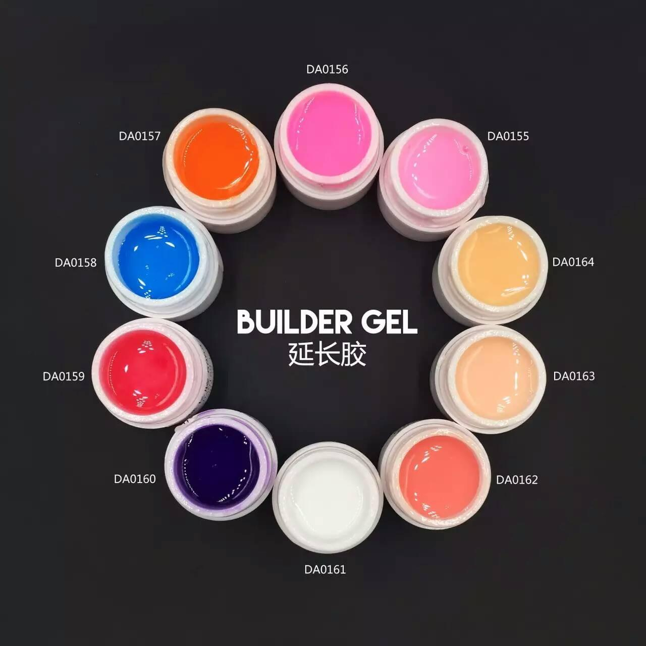 Wholesale Nail Extending Gel Nail Art OEM 15 Natural Colors Soak off Nail Clear builder gel from china suppliers