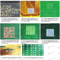 Quality 400mm × 400mm PCB Laser Engraver / Laser Engraving Machine Barcode Serial Number for sale