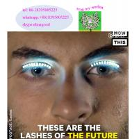 Buy cheap Party Supplies Led Eye Lashes Fun Interactive LED Eyelashes lashes turn your face into a rave party Led flashing colour from wholesalers