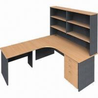 Wholesale L-shaped desk with hutch, melamine faced chipboard from china suppliers