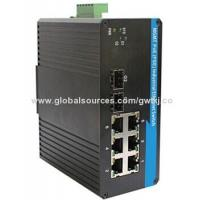 Quality Gigabit PoE Managed Industrial Ethernet Switch, network / fiber / power redundancy for sale