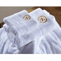 Wholesale Wholesale Custom Embroidered Logo White Luxury Hotel Towels Bath Set 100% Cotton Towel from china suppliers