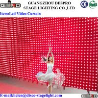 Wholesale Nightclub DMX LED Star Curtain Rock Music Stage LED Video Curtain 6*4m from china suppliers