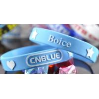 Buy cheap Blue Embossed Rubber Custom Silicone Wristband With For Younger Size 190x12x2mm, 180x12x2mm from wholesalers