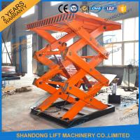 Wholesale Scissor Hydraulic Lift Platform , 2T 5.5M High Rising Material Handling Lifts CE TUV SGS from china suppliers