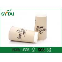 Wholesale 20Oz Disposable Single Pe Double Wall Paper Cups For Coffee , Oem Logo Printed from china suppliers