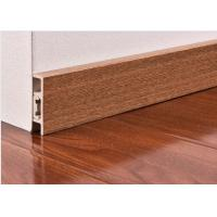 Wholesale CE Wooden Color Waterproof PVC Vinyl Skirting Board For Floor / Wall Base from china suppliers