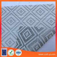 Wholesale Rhombus jacquard weave fabric Textilene PVC coated mesh fabric from china suppliers