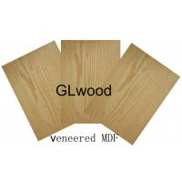 Wholesale 1220mm x 2440mm Real Wood Faced Veneer MDF ,  Melamine Medium Desity Fiberboard from china suppliers