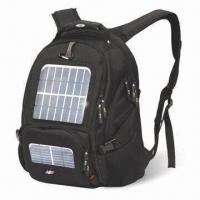 China 1680D Nylon Backpack with 2-piece Solar Panels, 3 Kinds of Optional Batteries and 4-piece Connectors on sale
