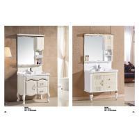 Wholesale Rectangular Sink Floating Bathroom Vanities LED Lamp Mirror Ceramic Basin from china suppliers