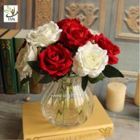 Wholesale UVG FRS66 Floral design in cheap artificial red rose flower for wedding themes table decoration from china suppliers