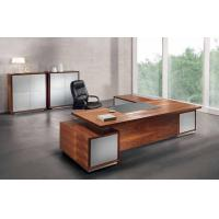 Wholesale Office L Shaped Elegant Solid  Walnut Corner Desk  With Long Cabinet from china suppliers