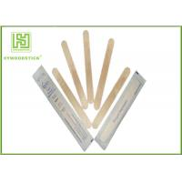 Wholesale Single Use Disposable Wooden Tongue Depressor Flat Bamboo Sticks OEM Available from china suppliers