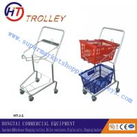 Wholesale Chrome Coated Steel Wire Retail Four Wheeled Shopping Trolley Cart Japan Style from china suppliers