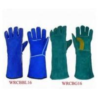 """Wholesale 14.5"""" gauntlet cuff wing thumb Cow split leather Welding Gloves for heat applications from china suppliers"""