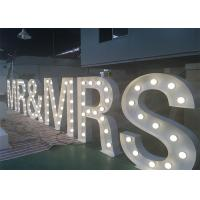 Quality Customized 1.5m Height White Light Up Wedding Letters LED Letter Sign For Decoration for sale