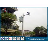 Wholesale H10m Hot Dip Galvanized CCTV Camera Pole / Surveillance Camera Poles With Painting Craft from china suppliers