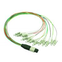 Wholesale 12 color 12 cores MPO to LC MM Beige fanout fiber patch cord 0.9mm cables from china suppliers