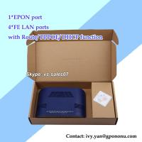 Quality newest 4 FE EPON ONU 4 LAN ports EPON ONU with route,DHCP,PPPOE function for sale