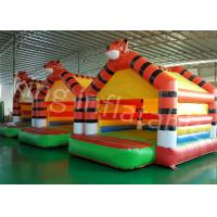 Wholesale 0.55mm PVC Tarpaulin Tiger Inflatable Jumping Castle For Outdoor Entertainment from china suppliers