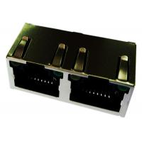 Wholesale 6116353-4/ 6116353-1  Rj45 Modular Jack ,1x2 Shield Panel Ground With LED from china suppliers