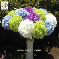 Wholesale UVG FHY21 Flower artificial wedding bouquets silk hydrangea for wedding stage decoration from china suppliers